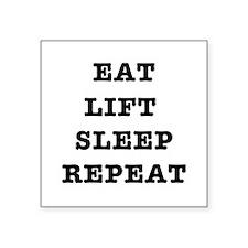EAT LIFT SLEEP REPEAT Sticker