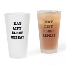 EAT LIFT SLEEP REPEAT Drinking Glass