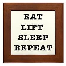 EAT LIFT SLEEP REPEAT Framed Tile