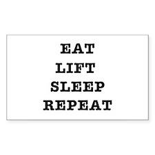 EAT LIFT SLEEP REPEAT Decal