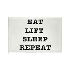EAT LIFT SLEEP REPEAT Rectangle Magnet