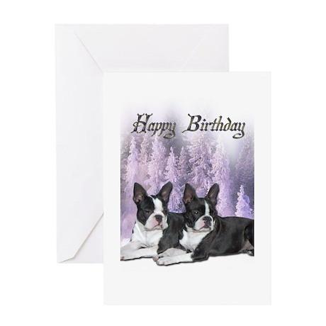 bostonterrier_birthdaycard1 Greeting Cards