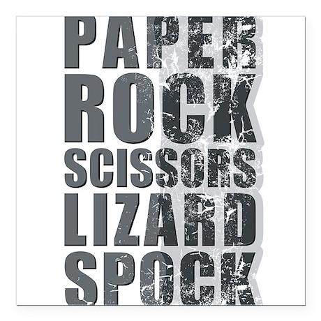paper rock scissors lizard spock Square Car Magnet