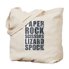 paper rock scissors lizard spock Tote Bag