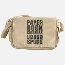 paper rock scissors lizard spock Messenger Bag