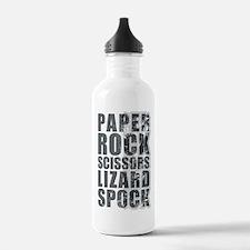 paper rock scissors lizard spock Water Bottle