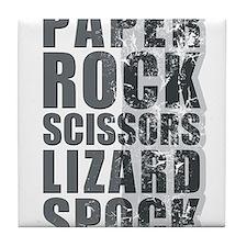 paper rock scissors lizard spock Tile Coaster