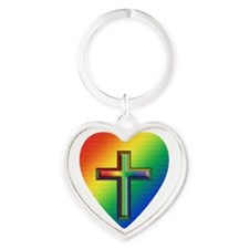 De Colores Cross Heart Keychain