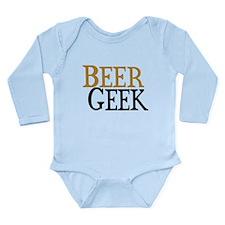 Beer Geek Long Sleeve Infant Bodysuit