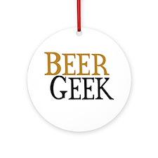 Beer Geek Ornament (Round)