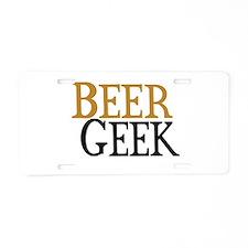 Beer Geek Aluminum License Plate