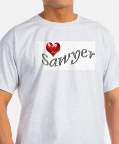 Lost - I heart Sawyer Ash Grey T-Shirt