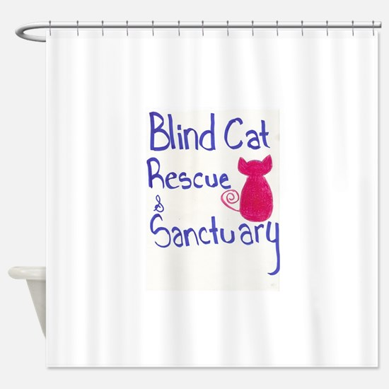 Blind Cat Rescue Shower Curtain