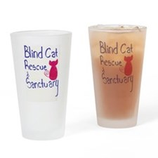 Blind Cat Rescue Drinking Glass