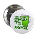 """Take A Pitcher it Will Last Longer 2.25"""" Button (1"""