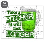 Take A Pitcher it Will Last Longer Puzzle