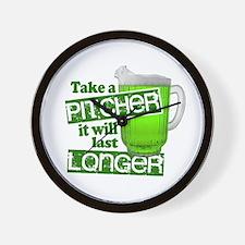 Take A Pitcher it Will Last Longer Wall Clock