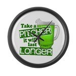 Take A Pitcher it Will Last Longer Large Wall Cloc