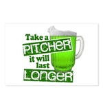 Take A Pitcher it Will Last Longer Postcards (Pack