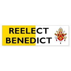 RE-ELECT Pope Benedict Bumper Sticker