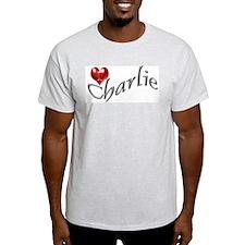 Lost - I heart Charlie Ash Grey T-Shirt