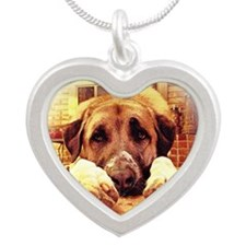 Anatolian, Paws 1st Silver Heart Necklace