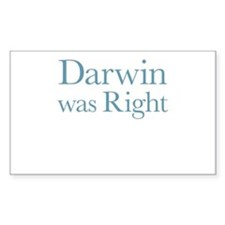 Darwin Was Right Decal