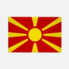 Flag of Macedonian Rectangle Magnet