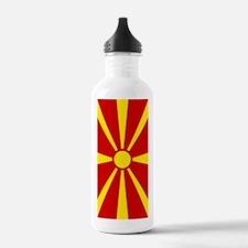 Flag of Macedonian Water Bottle