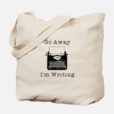 GO AWAY - Writing Tote Bag