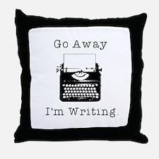 GO AWAY - Writing Throw Pillow