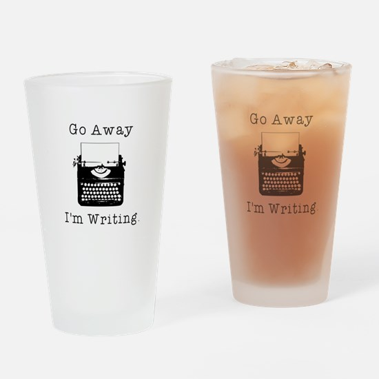 GO AWAY - Writing Drinking Glass