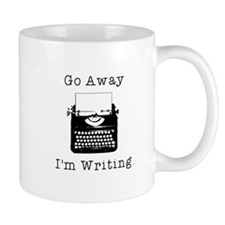 GO AWAY - Writing Mug