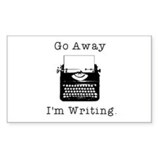 GO AWAY - Writing Decal