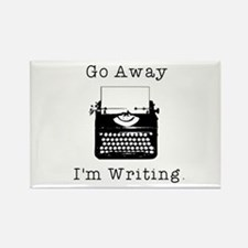 GO AWAY - Writing Rectangle Magnet