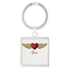 Joyce the Angel Square Keychain