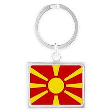Flag of Macedonia Landscape Keychain