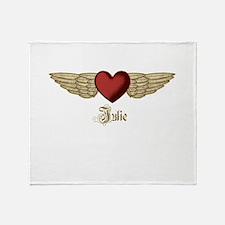 Julie the Angel Throw Blanket