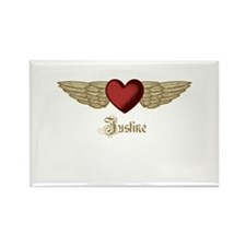 Justine the Angel Rectangle Magnet