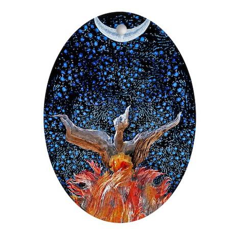 Phoenix Rising Ornament (Oval)