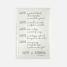 Love is Patient Verse Rectangle Magnet