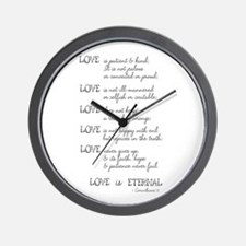 Love is Patient Verse Wall Clock