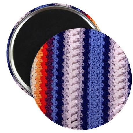 Crochet Afghan Round Magnet