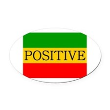 Positive Oval Car Magnet