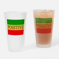 Positive Drinking Glass
