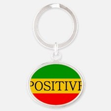 Positive Oval Keychain