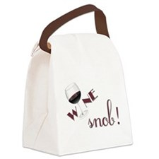 Wine Snob Canvas Lunch Bag