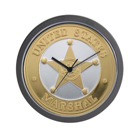 US Marshal Wall Clock