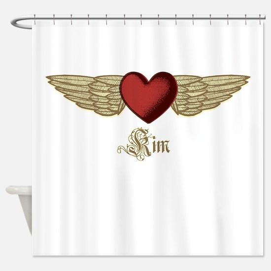 Kim the Angel Shower Curtain