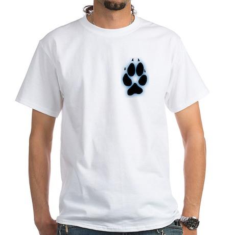 Golden Jackal Pawprint Blue T-Shirt